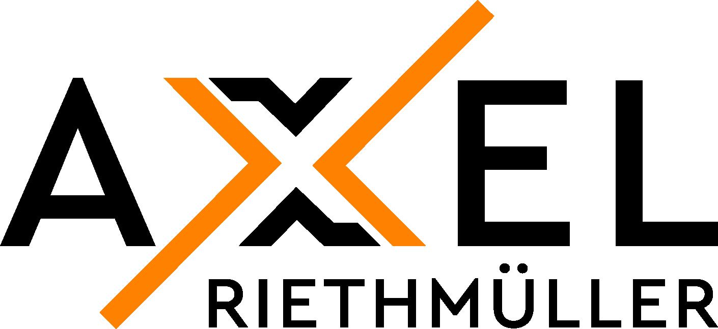 Axel Riethmüller Logo_Schwarz_Orange